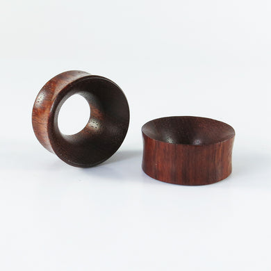 Blood Wood Deep Concave Tunnels (Pair)