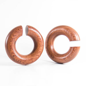 Blood Wood Medium Hoops (Pair)
