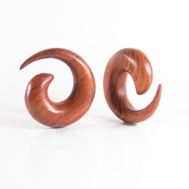 Blood Wood Medium Spiral Tapers (Pair)