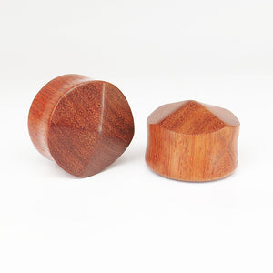Blood Wood Pyramid Plugs (Pair)