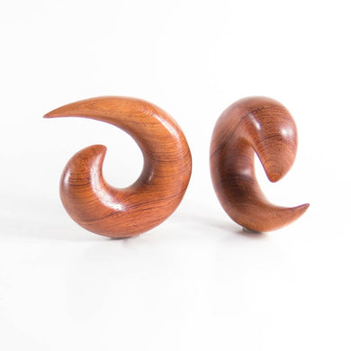 Blood Wood Spiral Tapers (Pair)