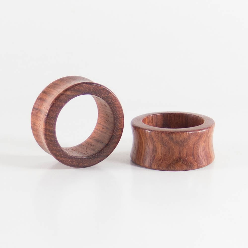 Blood Wood Round Tunnels (Pair) - Bare Bones Organics