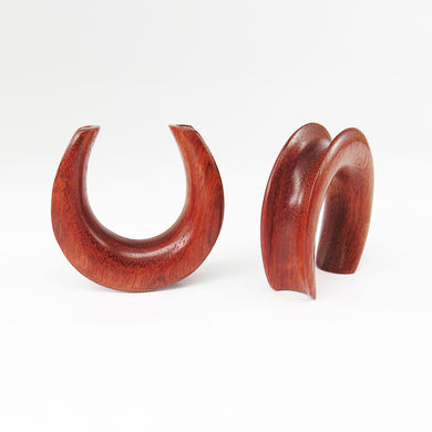 Blood Wood Saddle Ear Weights