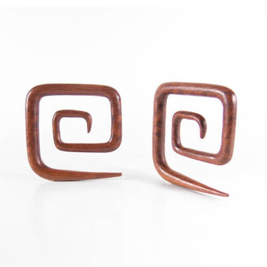Blood Wood Square Spirals (Pair)