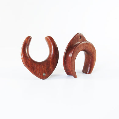 Blood Wood Teardrop Spreaders for Hanging Jewelry (Pair)