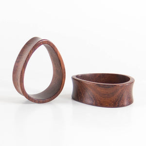 Blood Wood Teardrop Tunnels (Pair) - Bare Bones Organics