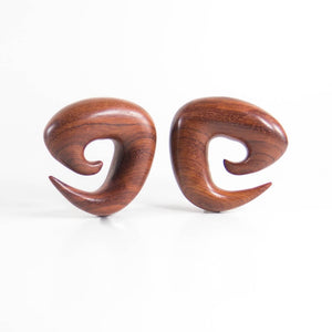 Blood Wood Tri Spirals (Pair)