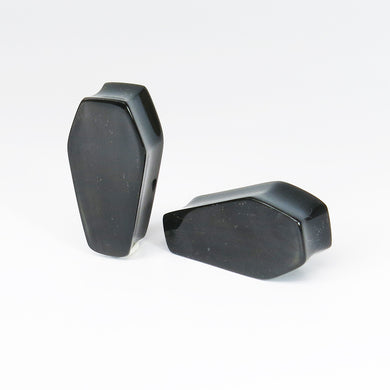 Buffalo Horn Coffin Plugs (Pair) - Bare Bones Organics