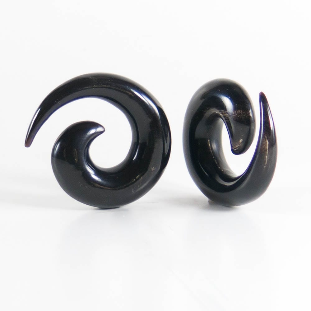 Buffalo Horn Medium Spirals (Pair)