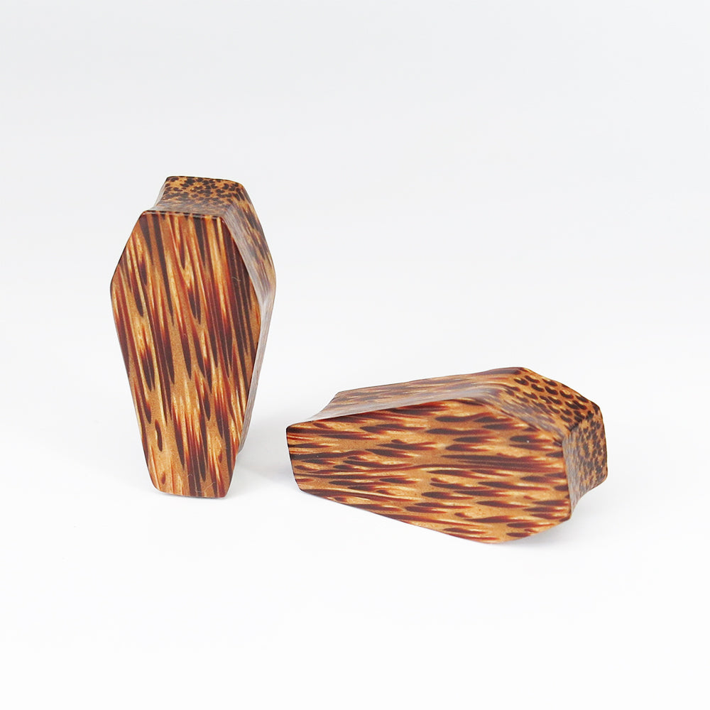 Coconut Palm Coffin Plugs (Pair) - Bare Bones Organics