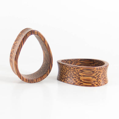 Coconut Palm Teardrop Tunnels (Pair) - Bare Bones Organics