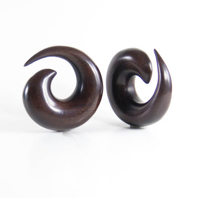 Dark Raintree Medium Spiral Tapers (Pair)