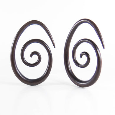 Dark Raintree Oval Spirals (Pair)