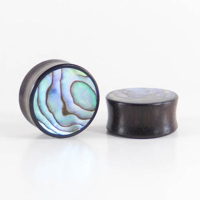 Dark Raintree Abalone Plugs