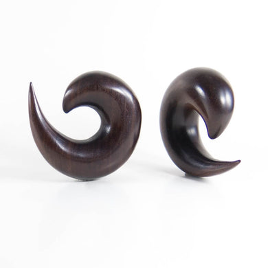 Dark Raintree Spiral Tapers (Pair)
