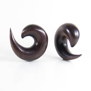 Dark Raintree Ear Spirals