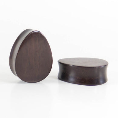 Dark Raintree Teardrop Plugs (Pair) - Bare Bones Organics