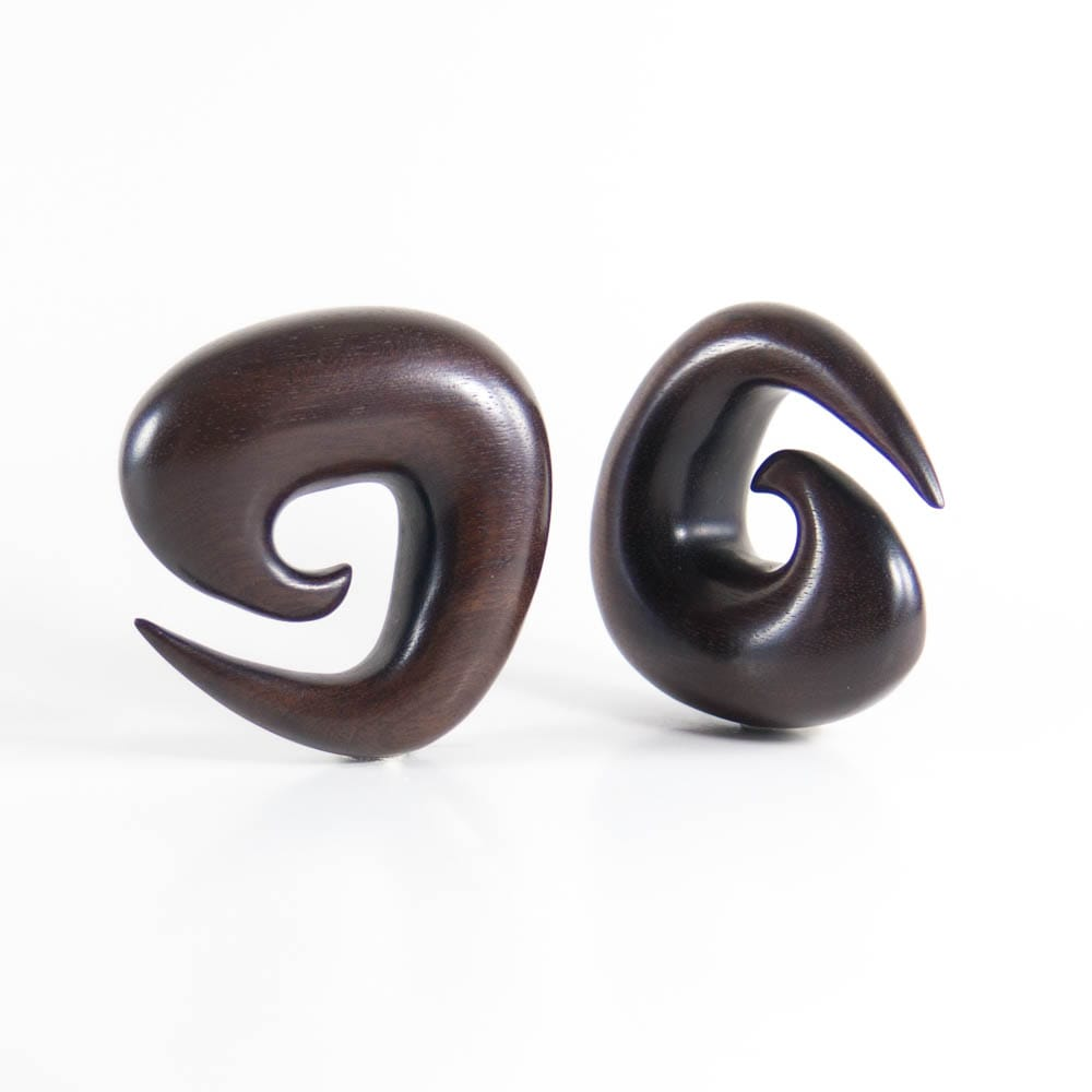 Dark Raintree Tri Spirals (Pair)