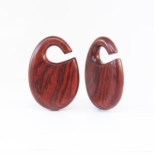 Blood Wood Dewdrop Ear Weights