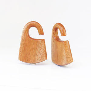 Fijian Mahogany Hmong Ear Weights (Pair) - Bare Bones Organics