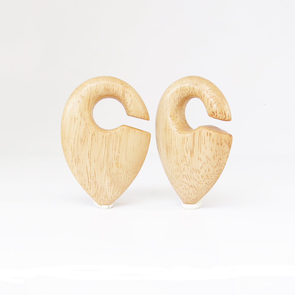 Hevea Wood Pendulumn Ear Weights