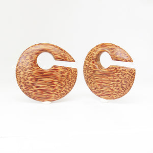 Coconut Palm Discus Ear Weights (Pair)