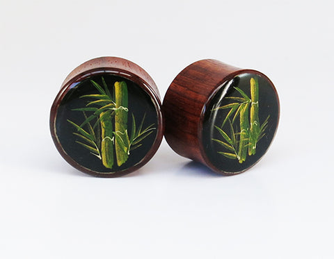 Hand Painted Bamboo Design
