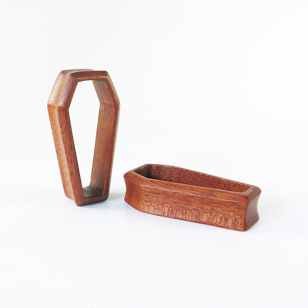 Fijian Mahogany 3D Coffin Tunnels (Pair)