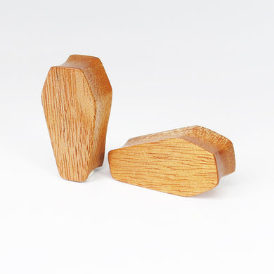 Fijian Mahogany Coffin Plugs (Pair) - Bare Bones Organics