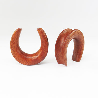 Fijian Mahogany Saddle Ear Weights