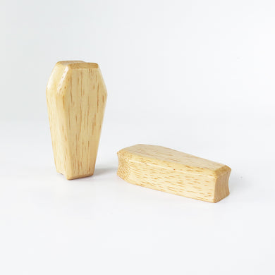 Hevea Wood 3D Coffin Plugs (Pair) - Bare Bones Organics