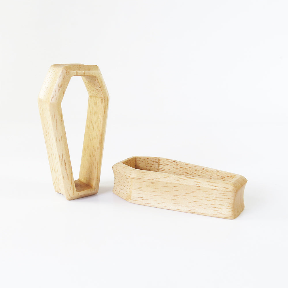 Hevea Wood 3D Coffin Tunnels (Pair) - Bare Bones Organics