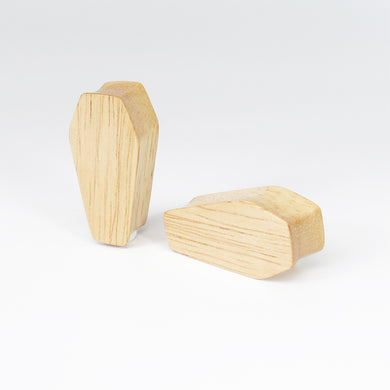 Hevea Wood Coffin Plugs (Pair) - Bare Bones Organics