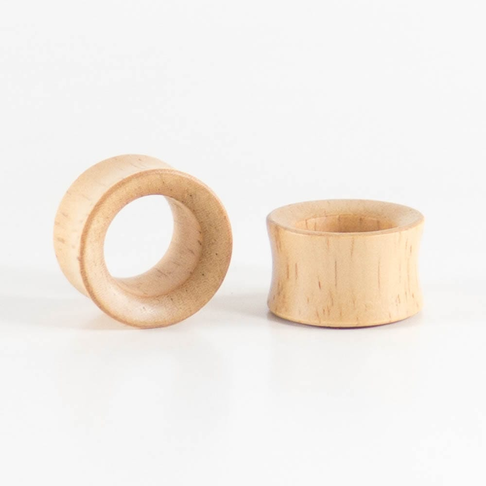 Hevea Wood Concave Tunnels