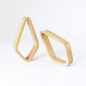 Hevea Wood Crystal Tunnels (Pair)