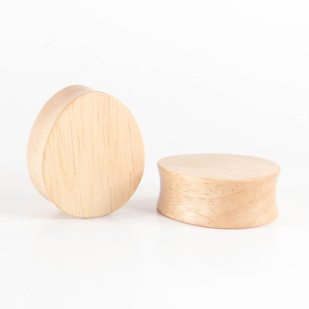 Hevea Wood Oval Teardrop Plugs (Pair) - Bare Bones Organics