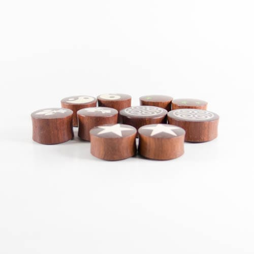 Five Pairs of Mixed Graphic Plugs - Bare Bones Organics