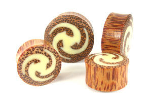 Coconut Palm Galactic Graphic Plugs - Bare Bones Organics