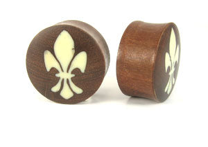 Dark Raintree Fluer De Lis Graphic Plugs - Bare Bones Organics