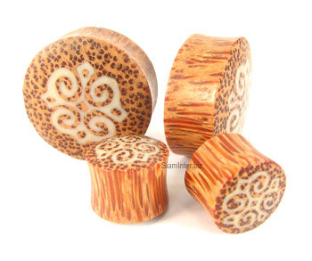 Coconut Palm Tribal Graphic Plugs - Bare Bones Organics
