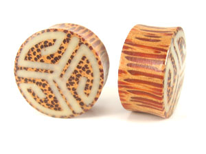 Coconut Palm Retro Graphic Plugs - Bare Bones Organics