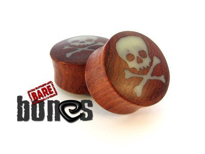 Pirate Skull Inlay - Bare Bones Organics