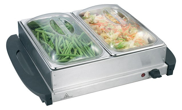 Firenzzi 304 Stainless Steel Buffet Server/Food Warmer 2 Trays FW-213