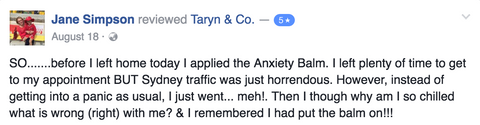 Honest Health Co. Anxiety Balm Testimonial