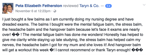 Honest Health Co. Mental Fatigue Testimonial
