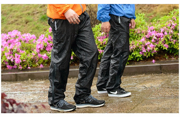 Unisex double zipper Rainpants