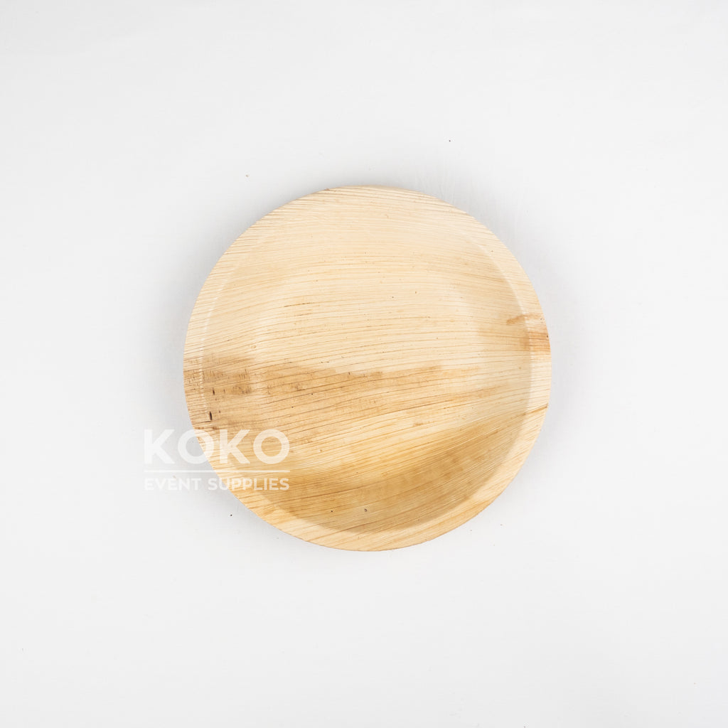 Palm Leaf Round Bowl - 18cm