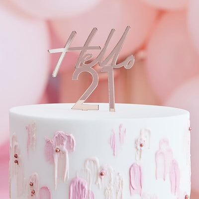 21st Birthday Cake Topper | Hello 21