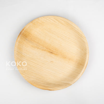 Palm Leaf Round Plate - 25cm (Pack of 10)