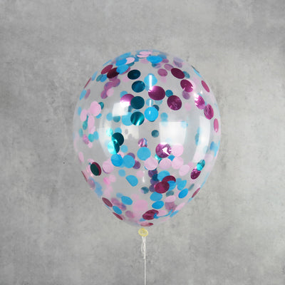 Blue And Pink Helium Confetti Balloon Melbourne